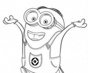 Coloriage Minion Dave 14
