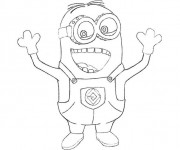 Coloriage Minion Dave 16