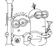 Coloriage Minion Dave 19