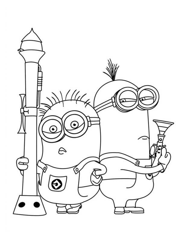 Coloriage et dessins gratuits Minion Dave 19 à imprimer