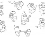 Coloriage Minion Dave 23