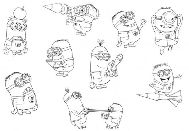 Coloriage et dessins gratuits Minion Dave 23 à imprimer