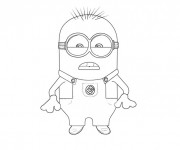 Coloriage Minion Dave 25