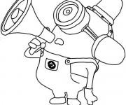Coloriage dessin  Minion Dave 3