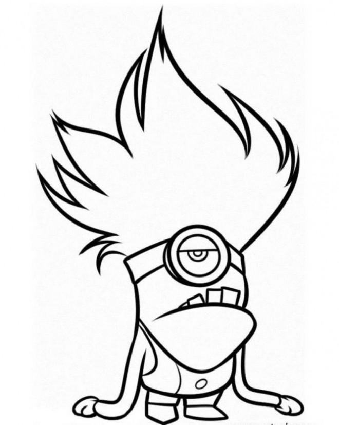 Coloriage et dessins gratuits Minion Dave 4 à imprimer