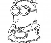 Coloriage Minion Dave 8