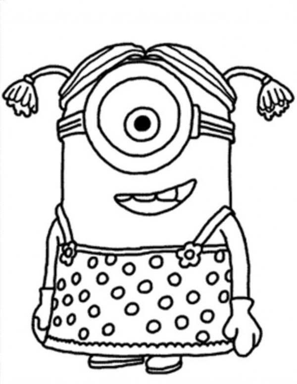 Coloriage et dessins gratuits Minion facile à imprimer