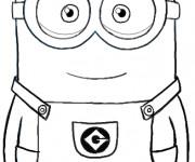 Coloriage et dessins gratuit Minion Stuart au crayon à imprimer