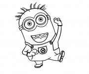 Coloriage Dessin Minion facile