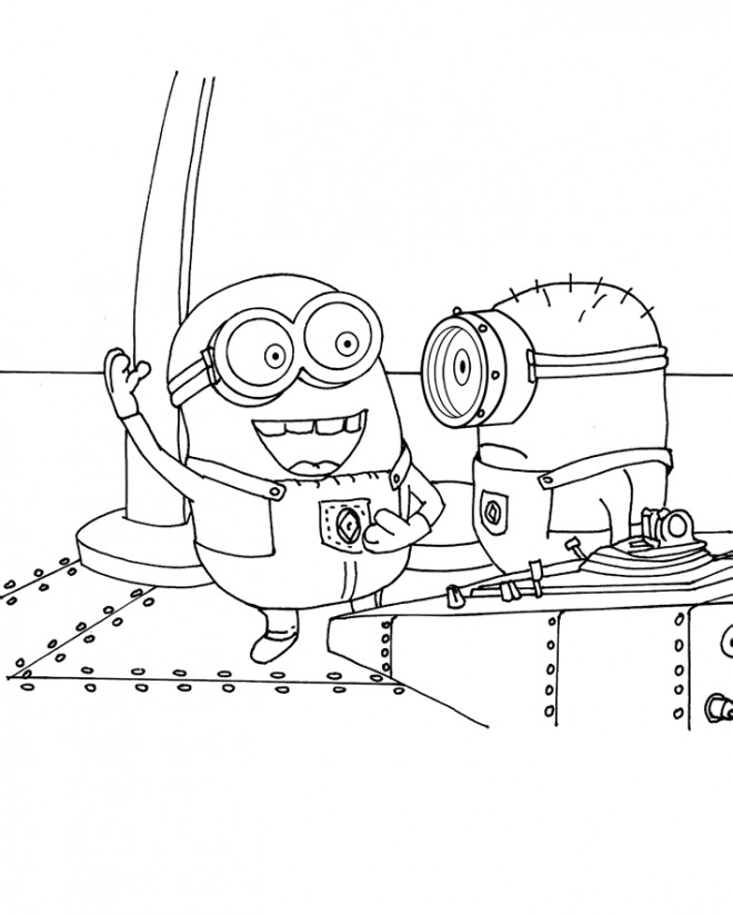 Coloriage et dessins gratuits Les minions dessin Bob et Jerry à imprimer