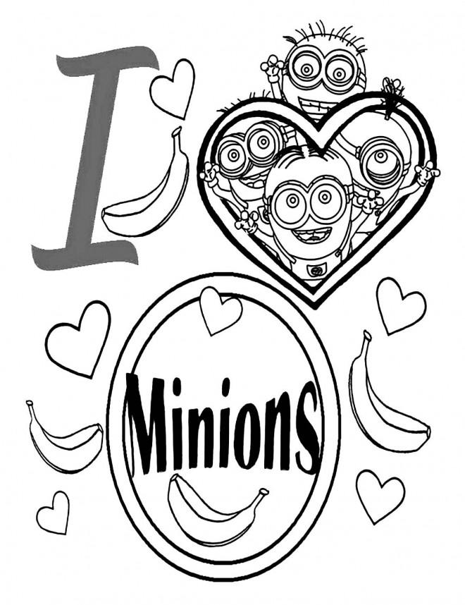 Coloriage Minions Banana Facile Dessin Gratuit A Imprimer
