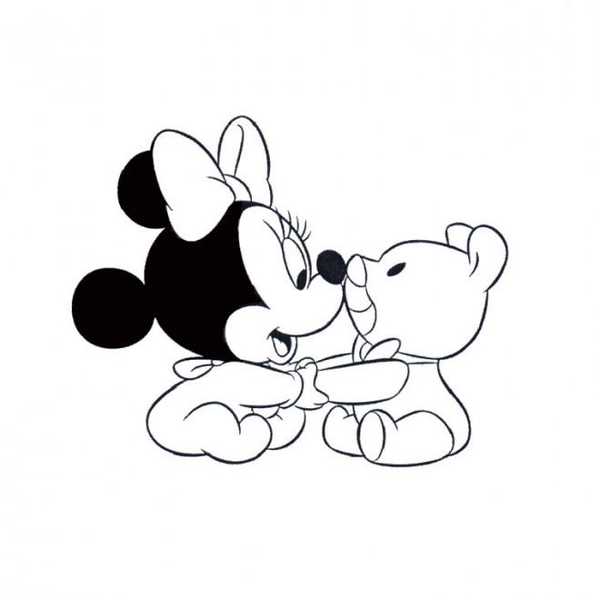 Coloriage minnie enfant dessin gratuit imprimer - Telecharger film mickey mouse gratuit ...