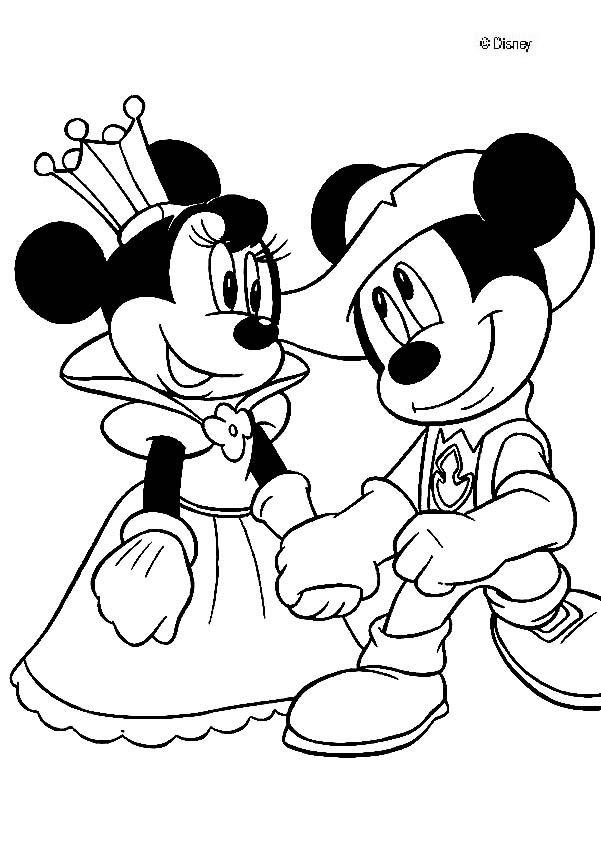 Coloriage minnie princesse dessin gratuit imprimer - Coloriage minnie robe ...