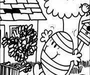 Coloriage Monsieur Malchance dessin animé