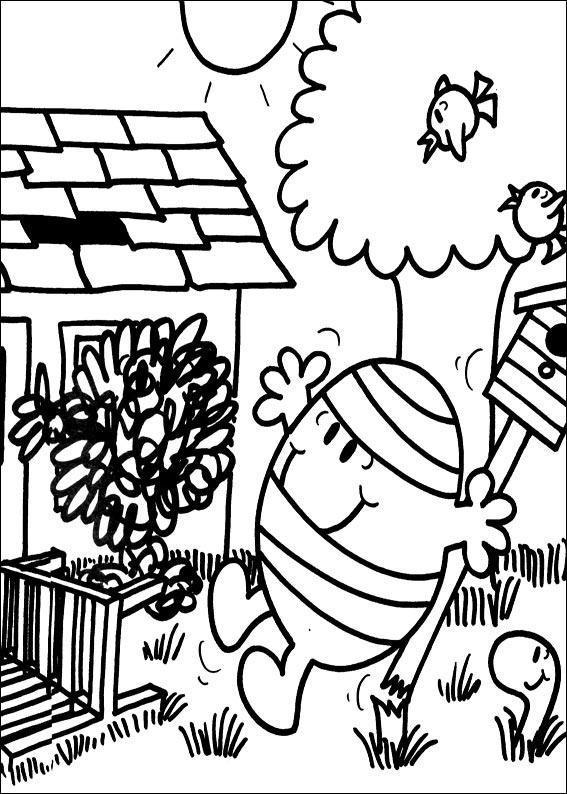 Coloriage et dessins gratuits Monsieur Malchance dessin animé à imprimer