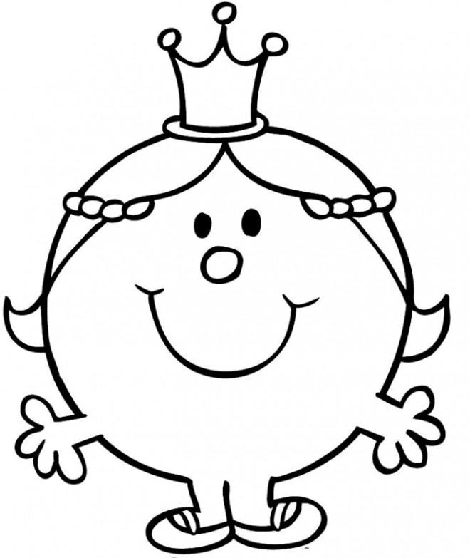 Coloriage portrait madame princesse dessin gratuit imprimer - Coloriage de monsieur madame ...