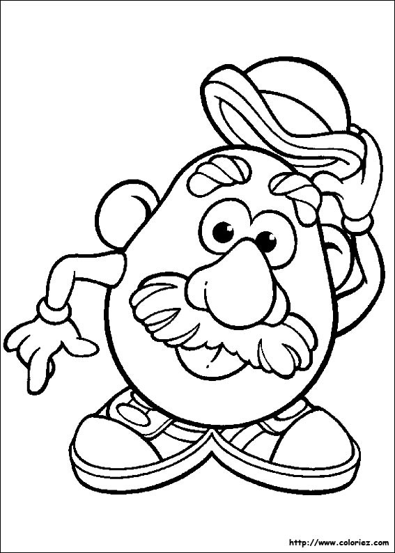 Coloriage monsieur patate 4 dessin gratuit imprimer - Mr patate dessin ...