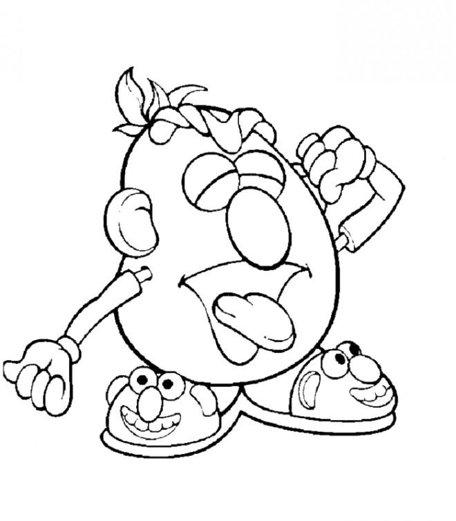 Coloriage Monsieur Patate 6 dessin gratuit à imprimer