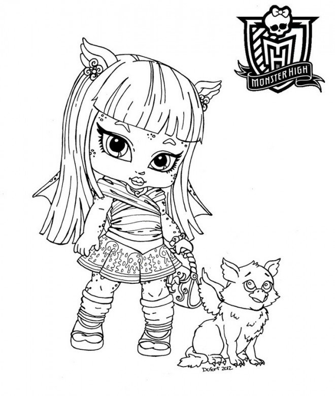 Coloriage b b monster high dessin gratuit imprimer - Coloriage a imprimer monster high ...