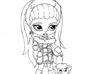 Coloriage Bébé Monster High en ligne