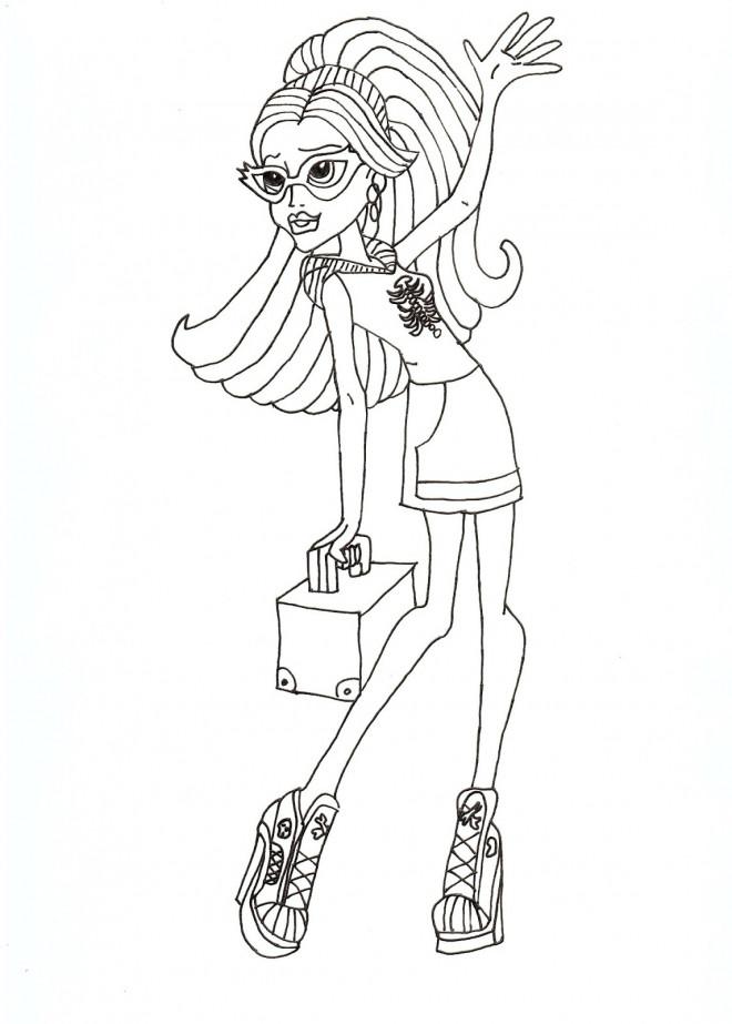 Coloriage et dessins gratuits Ghoulia dessin animé à imprimer
