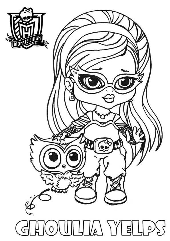 Coloriage et dessins gratuits Ghoulia et hibou à imprimer