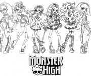 Coloriage Monster High à télécharger