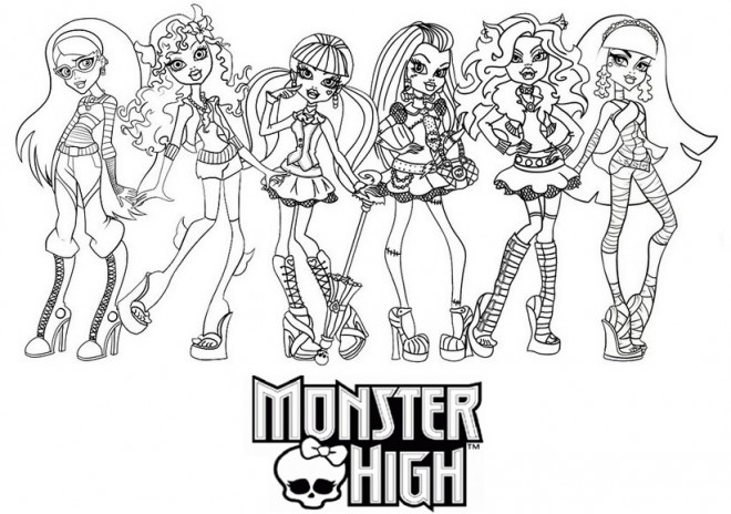 Coloriage Monster High à Télécharger