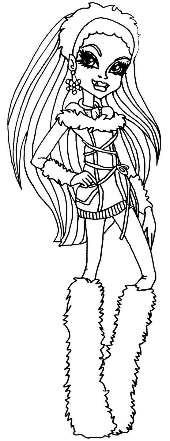 Coloriage et dessins gratuits Monster High Abbey dessin animé à imprimer
