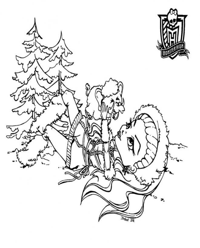 Coloriage et dessins gratuits Monster High Abbey et la neige à imprimer