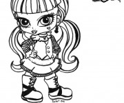 Coloriage et dessins gratuit Monster High baby à imprimer
