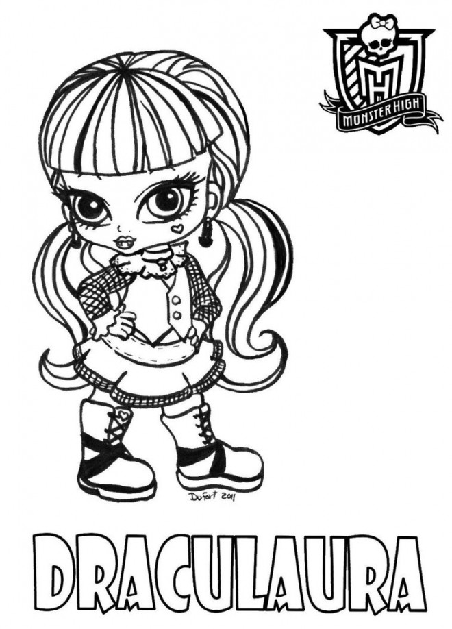 Coloriage et dessins gratuits Monster High baby à imprimer