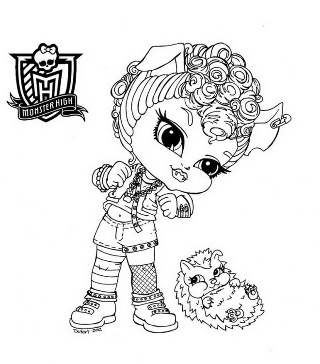 Coloriage Monster High Bébé Dessin Gratuit à Imprimer