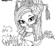 Coloriage et dessins gratuit Monster High bébé Jinafire Long à imprimer