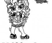 Coloriage Monster High bébé Lagoona Blue