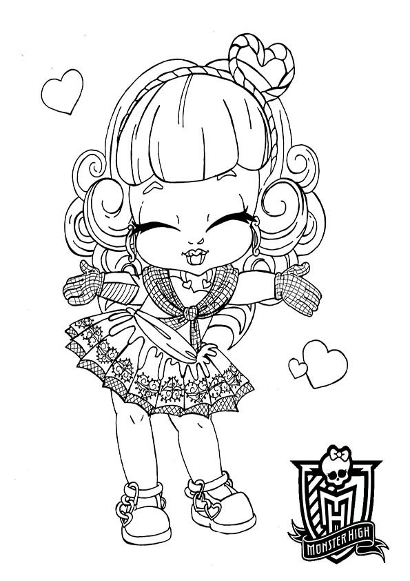 Coloriage monster high b b mignonne - Dessins de monster high ...