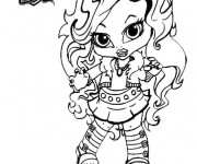 Coloriage Monster High Clawdeen baby