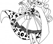 Coloriage Monster High Clawdeen princesse