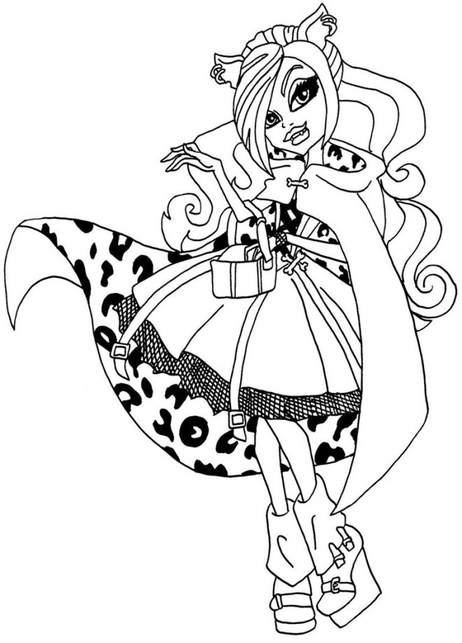 Coloriage et dessins gratuits Monster High Clawdeen princesse à imprimer