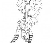 Coloriage Monster High Clawdeen robe