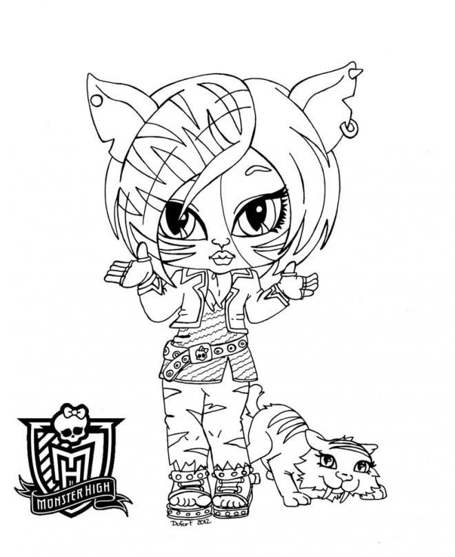 Coloriage et dessins gratuits Monster High Clawdia Wolf Bébé à imprimer