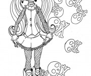 Coloriage Monster High Draculaura petite fille