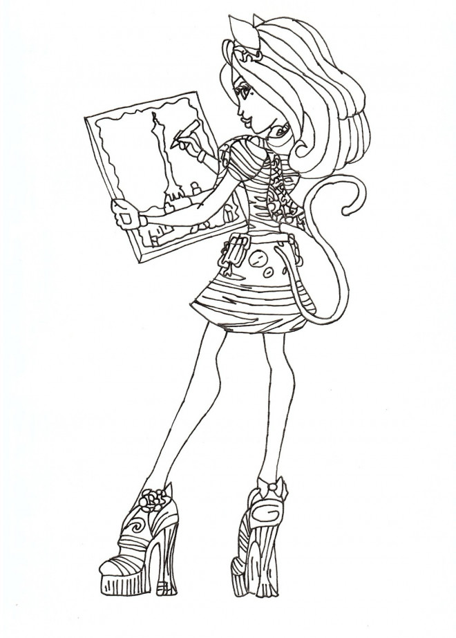 Coloriage monster high en couleur dessin gratuit imprimer - Comment dessiner une monster high ...