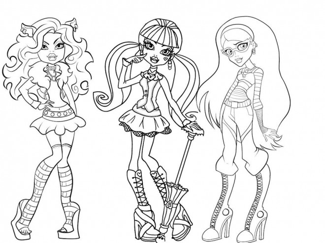Coloriage Monster High Facile Dessin Gratuit à Imprimer