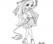 Coloriage et dessins gratuit Monster High Frankie Stein à imprimer