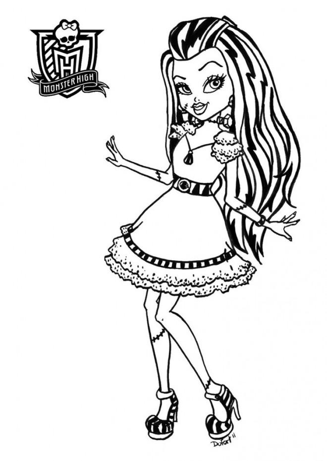 Coloriage et dessins gratuits Monster High Frankie Stein e ligne à imprimer