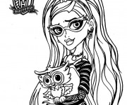 Coloriage Monster High Ghoulia