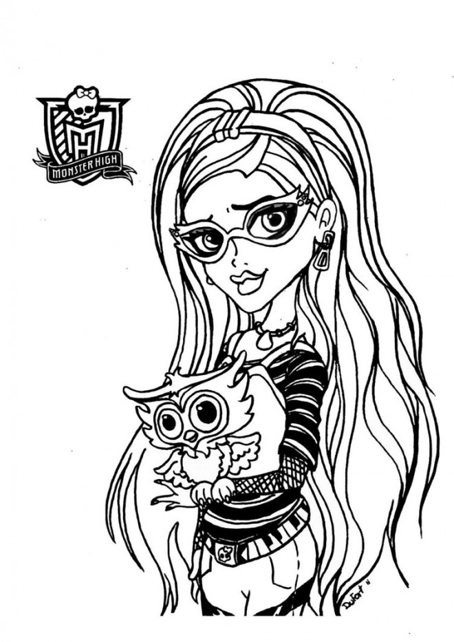 Coloriage et dessins gratuits Monster High Ghoulia à imprimer