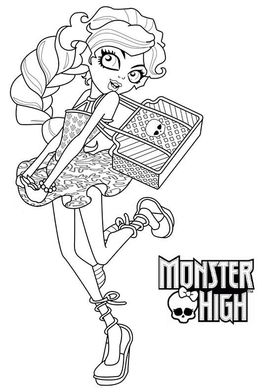 Coloriage et dessins gratuits Monster High Lagoona porte un sac à imprimer