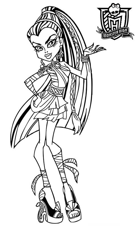 Coloriage monster high nefera en couleur dessin gratuit imprimer - Comment dessiner une monster high ...